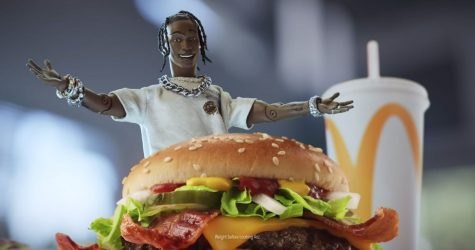 Toy figure with burger