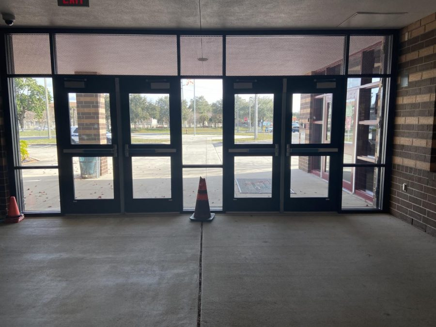 front gates of school